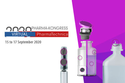 Full vial and pre-fillable syringe inspection at the Virtual PharmaTechnica 2020 exhibition